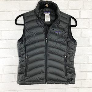 Patagonia Black Goose Down Puffer Vest Small